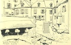 Fosse Dionne - Tonnerre (lolo wagner) Tags: urbansketchers usk croquis sketch tonnerre bourgogne