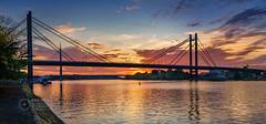 Sava-River-Belgrade-New-Railway-and-Ada-Bridges-1 (Predrag Mladenovic) Tags: belgrade sava river ada bridge newrailway gazela sunset twilight reflections citylights