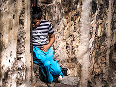 Streets of Guanajuato - Mexico (nicklaborde) Tags: 500px boy street travel blue child kid streets lumix panasonic mexico guanajuato gx7 lumixlounge