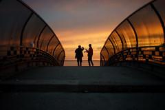 Bridge (dtanist) Tags: nyc newyork newyorkcity new york city sony a7 konica hexanon 40mm shore promenade bath beach brooklyn sunset bridge overpass pedestrian