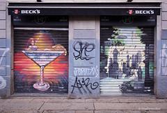 IMGP6936 Art on a restaurant shutters (Claudio e Lucia Images around the world) Tags: art shutters artonshutters streetart murale murales milano viavetere corsodiportaticinese portaticinese pentax pentaxart pentaxk3ii sigma sigma1020 street tag