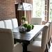 Dark wood dining room