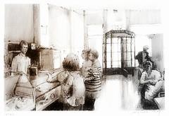 Evora - Alentejo - Portugal - scène de café (guymoll) Tags: evora café portugal alentejo personnages ombresetlumières crayon o