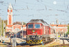 Afternoon Varna (BackOnTrack Studios) Tags: bdz passenger services train bulgarian state railways ludmilla 232 br232 07 111 07111 diesel locomotive 5d49 te109 varna central station railway red soviet