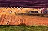 Ancient and modern (Fr Paul Hackett) Tags: farm bales field moorland grass