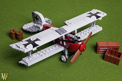 Albatros (Dread Pirate Wesley) Tags: lego moc airplane biplane great war german austrian wwi jasta western front albatros legoalbatros dv diii