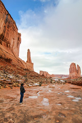 Mom in Arches National Park in the Winter (DGNacho.com) Tags: dgnacho travel vacationtrip holiday photooftheday travelgram simplyadventure teamcanon naturelovers neverstopexploring outdoors traveladdict traveler view vsco vscocam canon thelavishsociety ponderation avenuesofinspiration nationalpark utah archesnationalpark