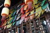 Pingyao (m-blacks) Tags: china cina travel vacation summer august holiday red street myview canon streetphotography colorful urbanlife shootthestreet pingyao lantern flags color traditional entrance temple yellow wood