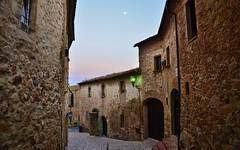 Pals street (Perfect Gnat) Tags: pals village architecture building twilight moon street streetlight sky wall rock medieval