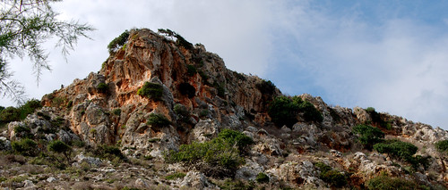 Cliff face near the Gonias monastery