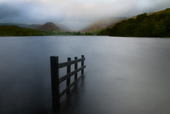 Watergate (selvagedavid38) Tags: cumbria district england grasmere long exposure neutral density canon 70d tripod water clouds britain landscape waterscape fence