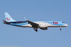 OO-JVA - 2015 build Embraer 190-100STD, on approach to Runway 06L at Palma (egcc) Tags: 190100std 19000689 emb190 embraer embraer190 jaf jetairfly jewel lepa lightroom majorca mallorca oojva pmi palma sonsantjoan tb tui tuiairlinesbelgium tuicom