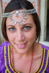 Rajasthan - Jaisalmer - Me wearing jewellry