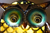 Eule aus dem Garten (ingrid eulenfan) Tags: macro makro eule owl augen eyes gartendekoration pflanzenhalter garten spirale spiral
