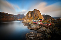 ~ Hamnoy Bridge ~ (Chirag Khatri) Tags: nikon d850 tamron tamron1530 norway norge lofoten hamnoy brisge eliassen rorbuer eliassenrorbuer cabins nature haida long exposure longexposure sky water mountain cliff outdoor adventure cold october colors clouds pov northern nd ndfilter filter haidafilters remote natural