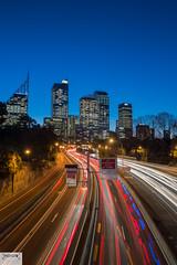 Sydney on Speed (Indigo Photography) Tags: speed cartrails sunset sydney lights longexposure sydneycity skyline cityscape worldcities australia ilovesydney seesydney