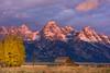 Grand Teton Sunrise (Amy Hudechek Photography) Tags: barn autumn fall gtnp grand teton national park sunrise color clouds fence trees amyhudechek nikond810 nikon70200 nature