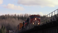 CN 121 Over Rang Ignace-Nadeau (MaineTrainChaser) Tags: 11417 trains train cn westbound west quebec