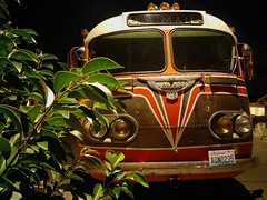 In the Pursuit of Individuality (RZ68) Tags: 50s late40s bus flxible coach old vintage classic big custom paintjob stripes night long exposure lgg6 lg g6 street us mail washington