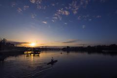 Sunrise Boat (S♡C) Tags: sunrise morning plane bird river ferrywharf