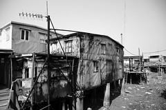 Stilt Houses (superzookeeper) Tags: canoneos5dmarkiv ef2470mmf28liiusm 5dmk4 5dmkiv hk hongkong taio eos digital street stilthouses blackandwhite bnw monochrome