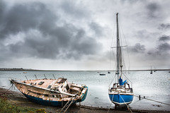 Abandoned (jamesromanl17) Tags: sky landscape sea water boat clouds cloudscape cloudy ocean boats uk canon 5d landscapes cloud storm skies eos britain lake district mark iii