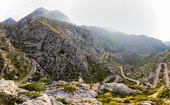 Road to Sa Calobra (hl_1001) Tags: spain mallorca mountain mountainpass street road panorama landscape viewpoint panoramic backlight