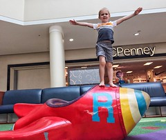 Rocketman (Pejasar) Tags: oklahoma tulsa grandson child superhero play boy rocketman rocket playground mall