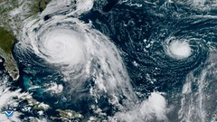 Hurricanes Maria and Lee in the Atlantic Ocean