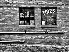 Stuff For Sale Here, Plymouth, Michigan (Dennis Sparks) Tags: blackwhite michigan sign plymouth iphone