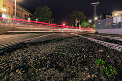 as fast as a flash (Sascha Fiori) Tags: strada street notte night luci urban italy sardegna binari