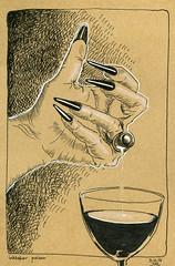 inktober poison Day3 (Jutta Richter) Tags: inktober inktober2017 poison hahnemühle brown ink micron uniball signo drawing sketch zeichnung hand fingernägel nails