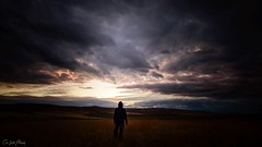 Time Alone (Chris Lakoduk) Tags: time alone landscape sky clouds sunset dusk sundown individual one person field motivational nikon contrast color photography in the middle isolated free