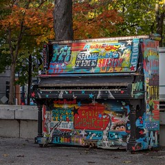 Public piano in Cabot Square, Montreal (Eileen NDG) Tags: montreal quebec park piano publicart publicpiano urban