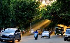 Dusk in Bengaluru (EVO GT) Tags: canon canonpowershotg5x canong5x india bengaluru bangalore dusk oldairportroad