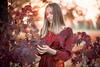 Natalia and the fall (antoniopedroni photo) Tags: fall autumn foliage redlight orangelight goldenhour warmtones autunno portrait ritratto helios40 bokeh sfocato