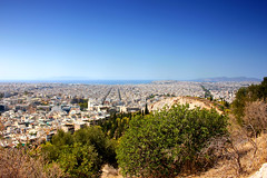Athens from Philopappos Hill (ika_pol) Tags: athens acropolis greece ancientgreece ancientruins ancient antiquity geotagged