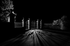 Heaven's Gates-2.jpg (___INFINITY___) Tags: 6d aberdeen aberdeenshire bw fetteressocemetery godoxad360 architect architecture canon canon1740f4 darrenwright dazza1040 eos fineart flash infinity kirkton light lightpainting night scotland strobist metal