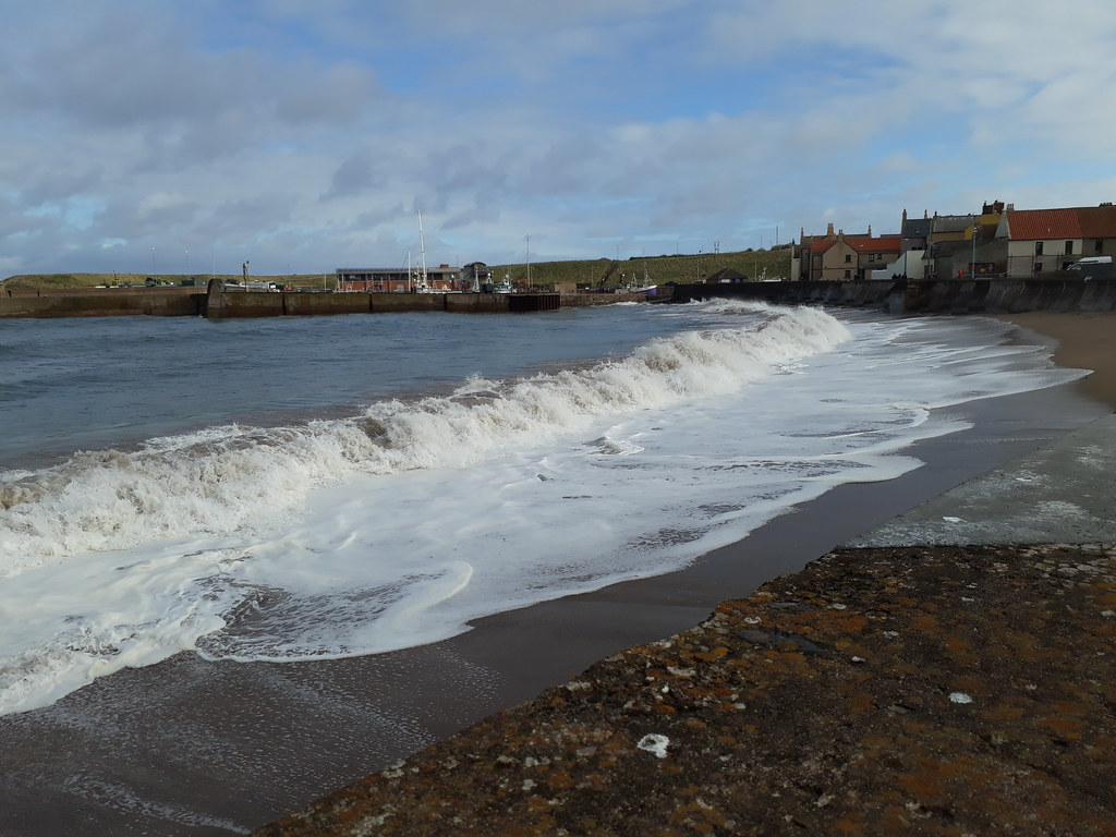 Eyemouth storm waves