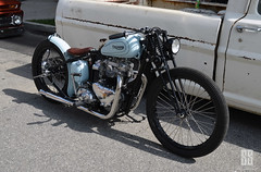 killer kicker (shuffdad) Tags: triumph motorcycle vintage kustom custom chopped bobber kicker