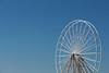 Wheel without Seats (Emman Nyyssönen) Tags: ferriswheel wheel empty white blue bluesky clearsky sky industrial blackpool england lancashire