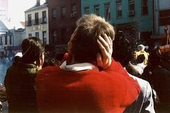 Noisy fireworks, Chinatown parade, Washington, D.C.  1990. (brunofish) Tags: c copyrighted material brian fish aka brunosih cbrunofish