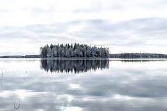 reflection of an island (VisitLakeland) Tags: finland lakeland lake autumn syksy järvi water vesi scenery scene näkymä kuopiotahko reflection heijastus mirror peilikuva