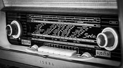 Travel Machine (Ben Colorblind) Tags: old radio travel machine cities tuner tuning blackandwhite black white bw