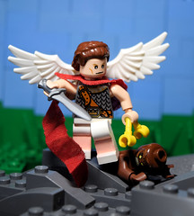 Saint Michael (RagingPhotography) Tags: saint michael feast day christianity christian imagery image photo photography art artistic religion religious righteous love good holy archangel angel demon evil devil satan sin sinner sinful heaven hell recreation minifigure minifig figure toy toys plastic custom ragingphotography lego