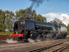 MRC2017-12 (Dreaming of Steam) Tags: 6233 46233 duchess duchessofsutherland heritage heritagerailways lms midlandrailwaycentre princesscoronation princesscoronationclass railway stainer steam steamengine sutherland train vintage engine locomotive railroad smoke steamlocomotive
