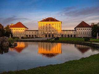 Schloss Nymphenburg im Abendlicht