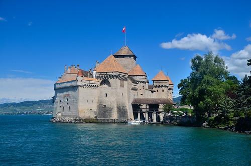 Château de Chillon and Lake Geneva
