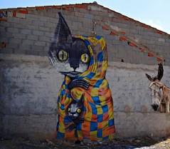 Dos gatos y un borrico (Caty V. mazarias antoranz) Tags: fanzara castellón comunidadvalenciana murales muralesdefanzara arte pintura pueblosdecastellón castellóndelaplana altomijares arteenlascalles arteenlosmuros arteenlasfachadas fachadas spain españa