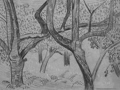 SERUSIER Paul - Le Verger (Louvre RF40965-Recto) - Detail 01 (L'art au présent) Tags: details détail détails detalles drawings dessins croquis étude study studies sketch sketches dessins19e 19thcenturydrawings dessinfrançais frenchdrawings peintresfrançais frenchpainters louvre paris france musée museum arbres tree trees trunk orchard grove nature